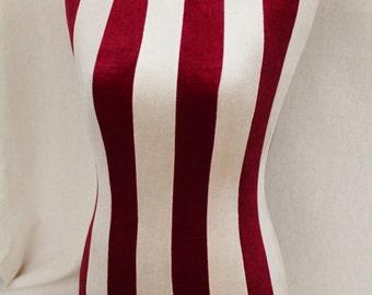 COVER for Mannequin Slip on Red White Velvet bust torso dress form