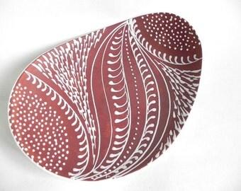 Larholm Norway midcentury ceramic bowl. Modern Scandinavian design