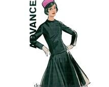 1950s WOMEN'S JACKET & SKIRT Pattern Off-Center Button Jacket Flared Skirt Bust 38 Advance 9901 UNCuT Plus Size  Womens Sewing Patterns 50s