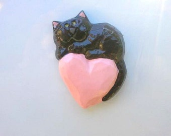 Beautiful Black Cat Magnet will Steal Your Heart, PURRfect Gift for any Cat Lover
