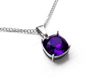 Dark Purple Swarovski Crystal Stone Pendant