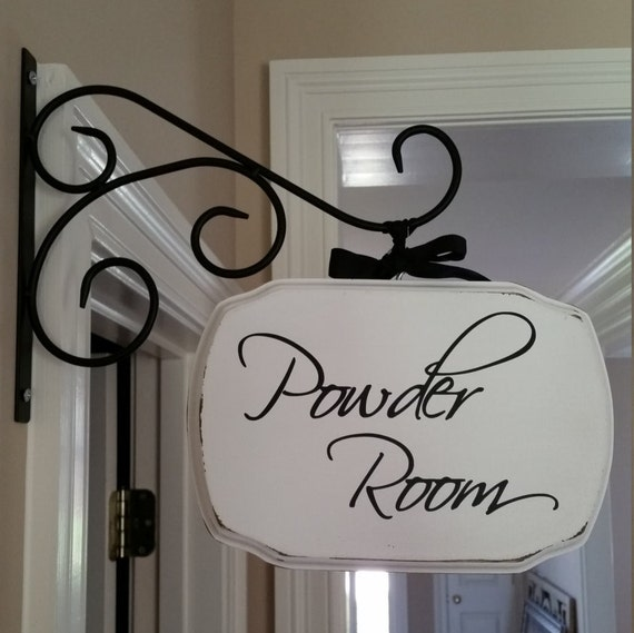 Powder Room/Laundry Room/Pantry/Guest Room Plaque With or Without Bracket