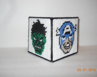 Avengers Basket-plastic canvas, super heroes, Hulk, Iron man, Thor Capt America