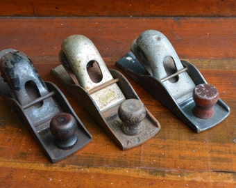3 Wood Planes Set of 3 Wood Planes Indisutrial Decor Urban Loft Decor 3 Wood Planers Antique Woodworking Tool I Ship Globally