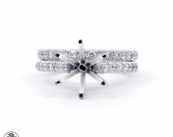 Ring, Semi Mount Wedding Set, Semi Mount Ring, Wedding Set, Diamond Wedding Set, Engagement Ring, Wedding Band, Wedding Rings | LDR02251