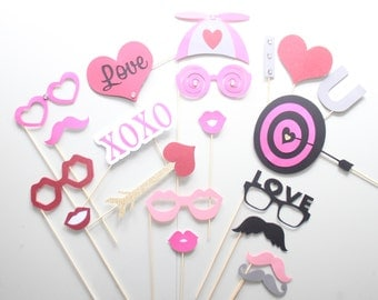19Pc * I Heart You/Wedding Photo Booth Props/Photobooth Props