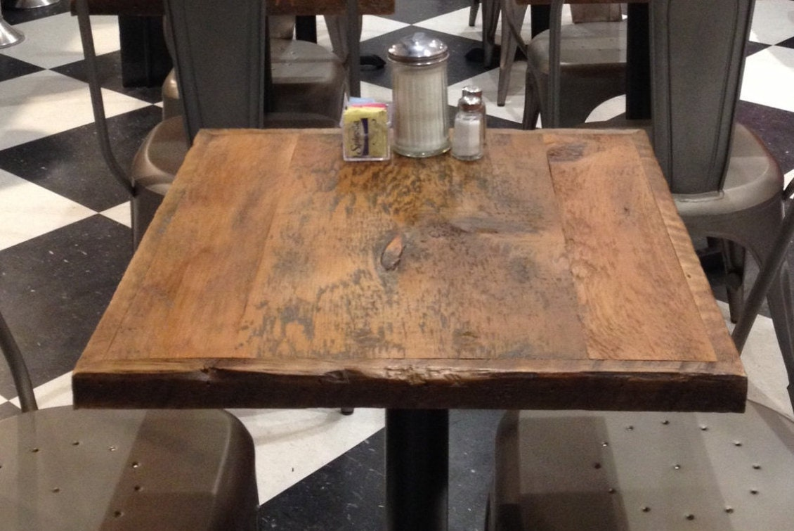 Dining table, reclaimed wood table top,pub tables, bar table top,restaurant - Reclaimed Wood Table Etsy