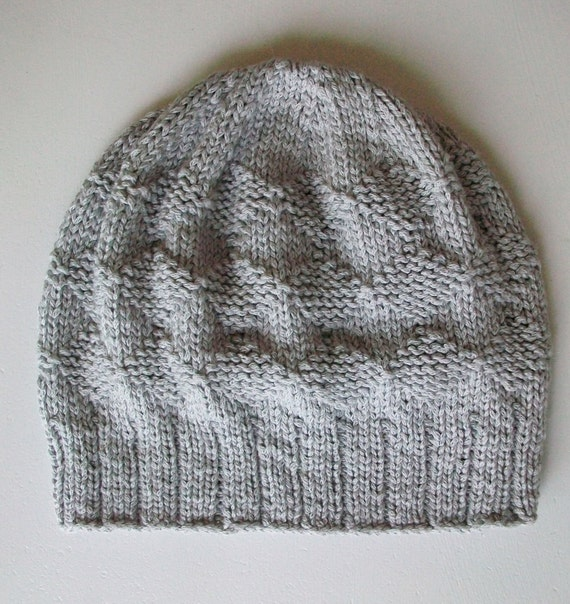 Easy Knitting Hat Pattern Slouchy Diamond Hat by BlueStockinette