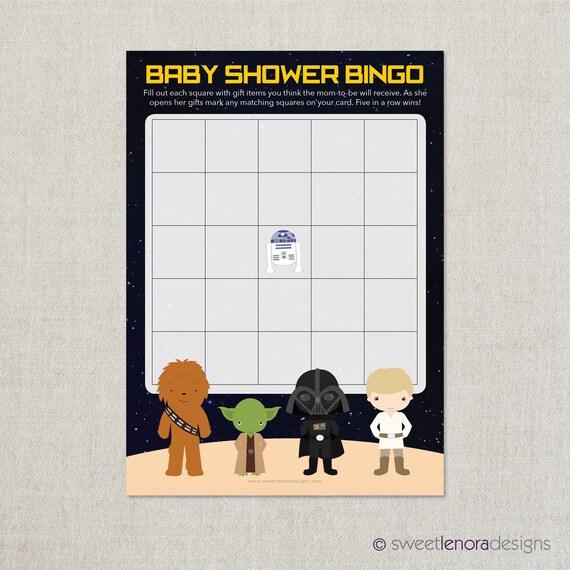 star wars baby shower bingo printable baby shower bingo game