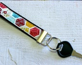 Key Fob Wristlet with Hex...