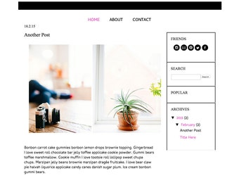 INSTANT Download - Premade Blogger Template - Bold and Bolder