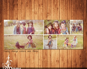 Facebook timeline cover template photo collage Photoshop Template Instant Download - BUY 1 GET 1 FREE: fc349