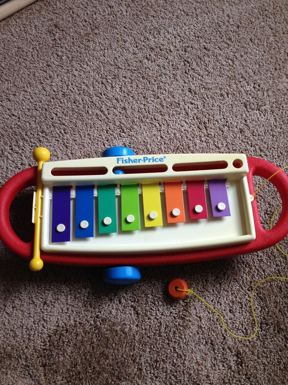 Vintage Musical Toys : Vintage fisher price rock and roll xylophone toy musical