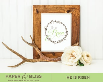 PRINTABLE He Is Risen - Wall Art