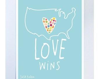 LOVE WINS Print 8 x 10