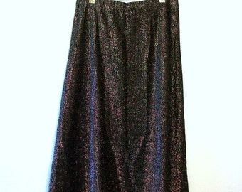 Vintage Skirt, Sparkly Skirt, Metallic Skirt, Midi Skirt, Black Skirt, Pencil Skirt, Black Pencil Skirt, Stretch Pencil Skirt,Black & Silver