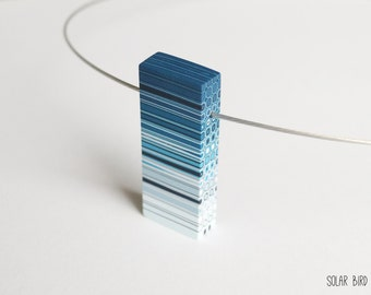 Geometric necklace Geometric pendant Geometric jewelry Modern necklace Minimalist necklace Modern jewelry Contemporary jewelry Rectangular