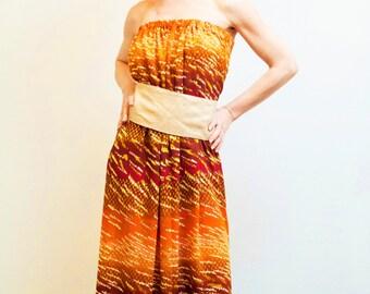 Dress Shobana maxi dress / summer dress / Maxi oversized dress / summer dress / Orange Boho chick dress / party dress / chiffon dress