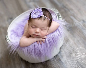 Lavender Shabby Chic Headband, Lavender Flower, Lavender, Shabby Chic Flower, Headband, Baby Headband, Newborn Headband, Photography Prop