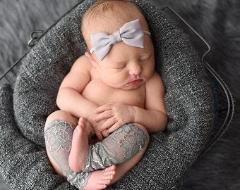 Newborn Leg Warmers Set, Newborn Leg Warmers, Leg Warmers Set, Grey Headband, Flower Headband, Photography Prop, Newborn Prop