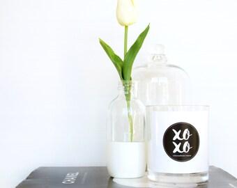 "Lemongrass ""XOXO"" Hand Poured Large Soy Candle"