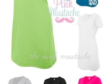 Monogrammed V-Neck Beach Cover Up / Monogrammed Dress / Ladies Monogrammed Dress