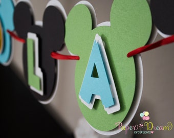 Mickey Mouse Clubhouse Banner/mickey banner/mickey mouse party banner