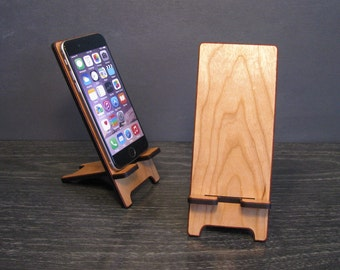 Universal Wood Smart Phone Stand Wooden Docking Station 5 Sizes custom fit for Galaxy S4 S5, iPhone 4, iPhone 5, iPhone 6, iPhone 6 Plus