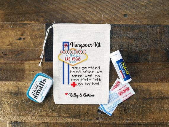 Las Vegas Wedding Hangover Kit Bags {set of 10}