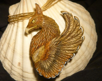 Eagle Gryphon  - fantastic handcrafted Griffin Pendant - Gryph Griffon Griffin Eagle