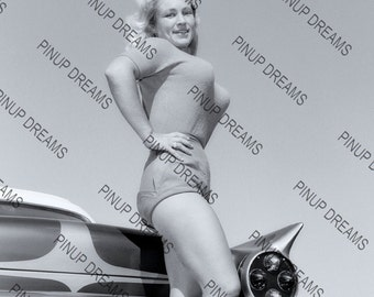 """Photo Poster Wall Art Print of Lovely Burlesque Pin-up Virginia Bell Retro A4 (11.7"""" x 8.3"""")"""