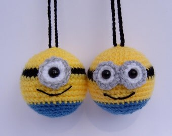 minion bauble crochet decorations