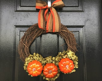 New fall wreath 2016, autumn decor, fall decor, fall wreath, autumn wreath, pumpkin wreath