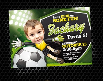 Soccer Invitation - Soccer Party - Soccer Birthday - Tailgate - Sports Birthday - Printable Party - Soccer Field