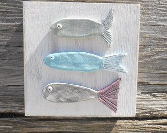 Fish Wall Decor, Whimsical Fish Art, Handmade Fish, Polymer Clay Fish, Beach Decor, Coastal Decor