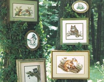 CROSS STITCH PATTERN - Wild Animal Cross Stitch Pattern - Owl Cross Stitch - Fox Cross Stitch - In The Woods - Stoney Creek #14