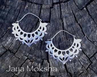 NEW!  Silver Enchanted Archway Earrings with Sterling Ear Wires - Modern Tribal Gypsy Elegance