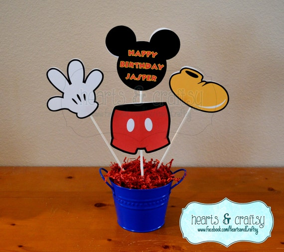 Mickey Mouse Centerpiece Cutouts Personalized / Mickey Mouse
