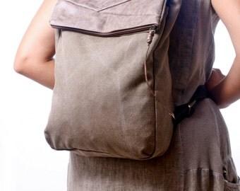 Canvas Backpack - Brown Laptop Backpack - Canvas Rucksack-Canvas Tote, large canvas bag, shoulder bag, hobo bag Diaper bag  Travel bag