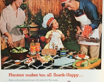 Awesome 1960 Planters Products Advertisment, great summertime paper ephemera.