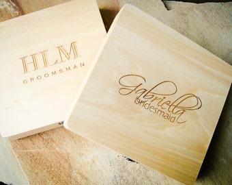 Custom Valet Box, Personalized Wood Box, Monogrammed Box, Custom Wedding Card Box, Keepsake Box, Letter Box, Wedding Photo Box