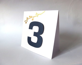 Fall Table numbers,Gold table number, Wedding table numbers, Seat numbers, Branch table number