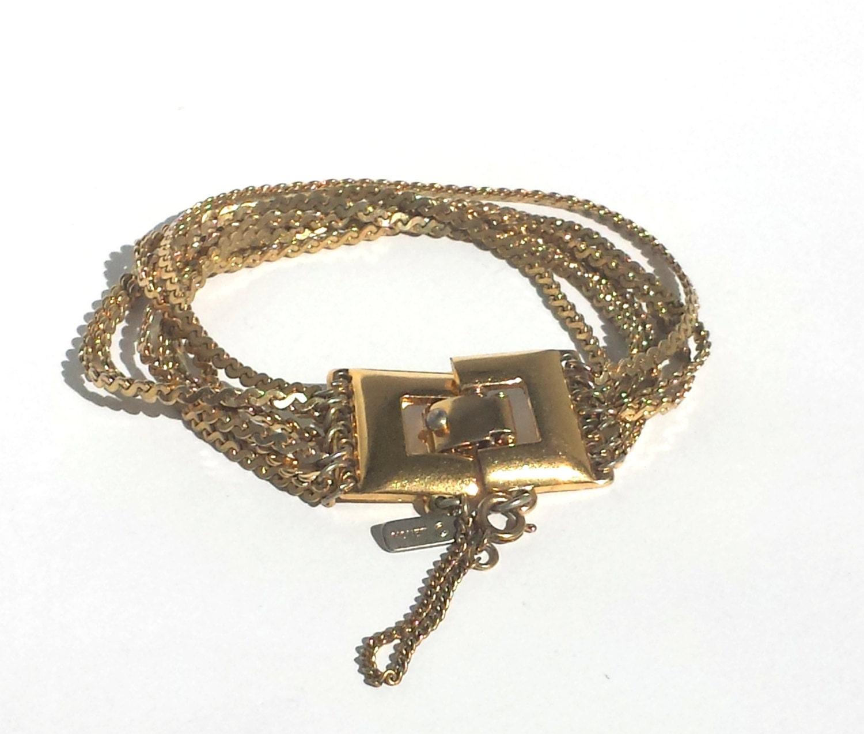 vintage bracelet vintage monet monet chain bracelet monet