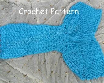 Mermaid Skirt Costume Crochet Pattern Child Sizes