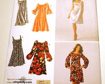 Simplicity 3532 - Misses and Miss Petite Pullover Dress Pattern in Two Lengths - Sizes 8 to 16 - Easy to Sew