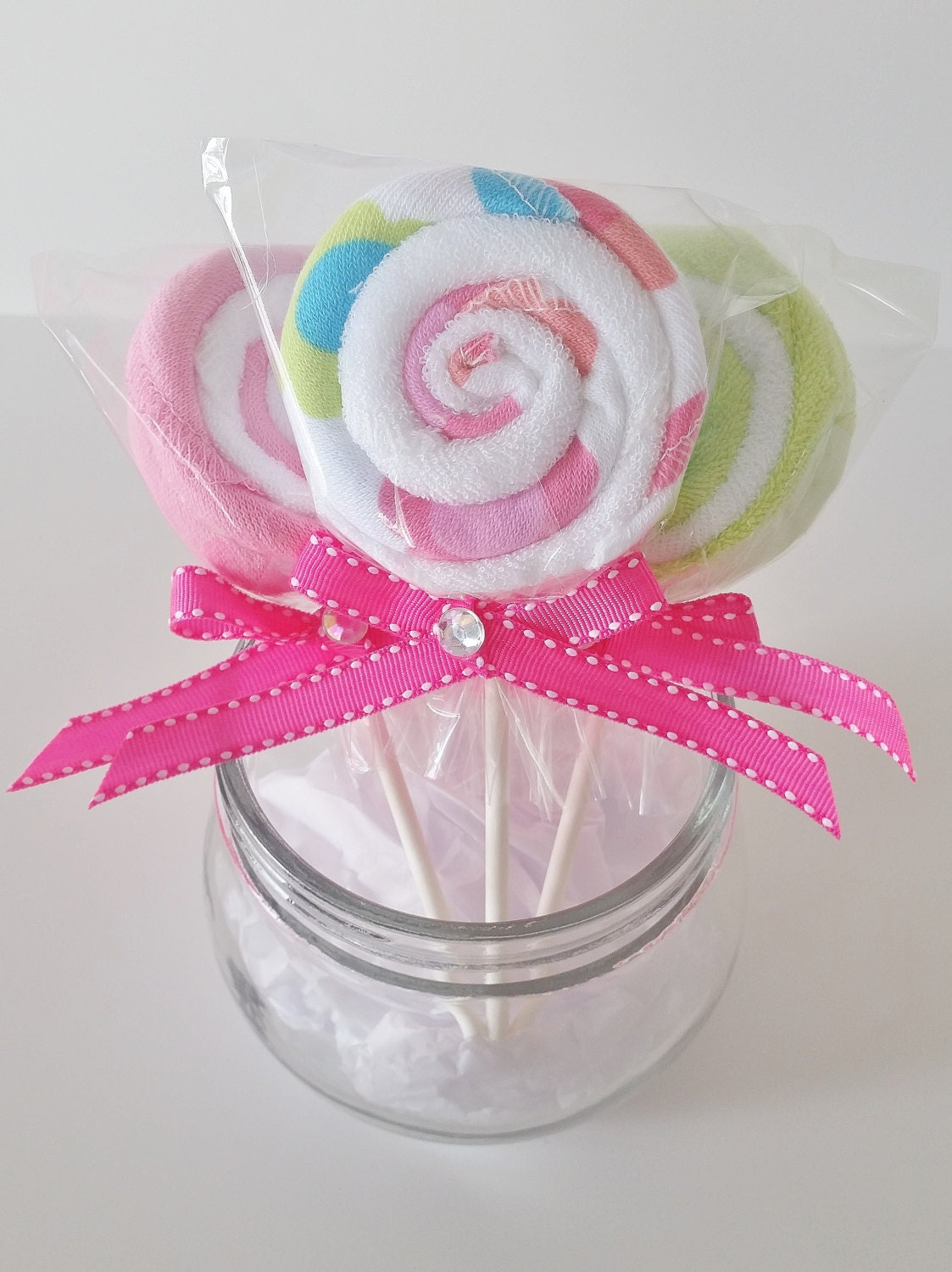 baby washcloth lollipop baby girl shower favors baby