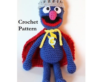 Super Grover crochet pattern