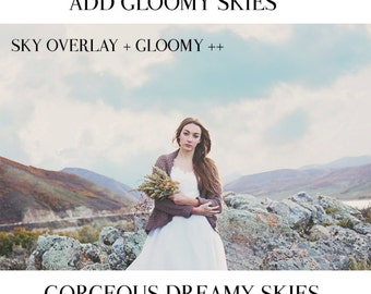 Dreamy Skies Collection- Photoshop and Photoshop Elements Cloud & Skies Overlays