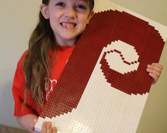 "Custom Made Lego Mosaic of your favorite Team (10""x20"")"