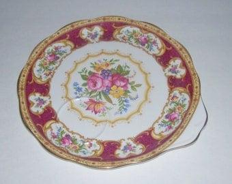 Royal Albert Lady Hamilton Snack Sandwich Toast Plate